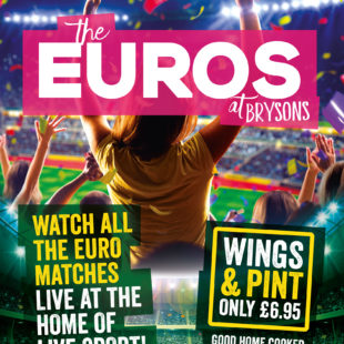 Euros at Brysons – NO1 for LIVE sport