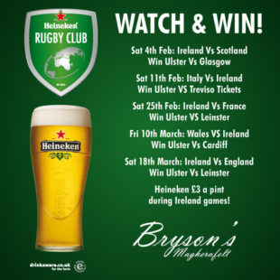 6 nations at Bryson's