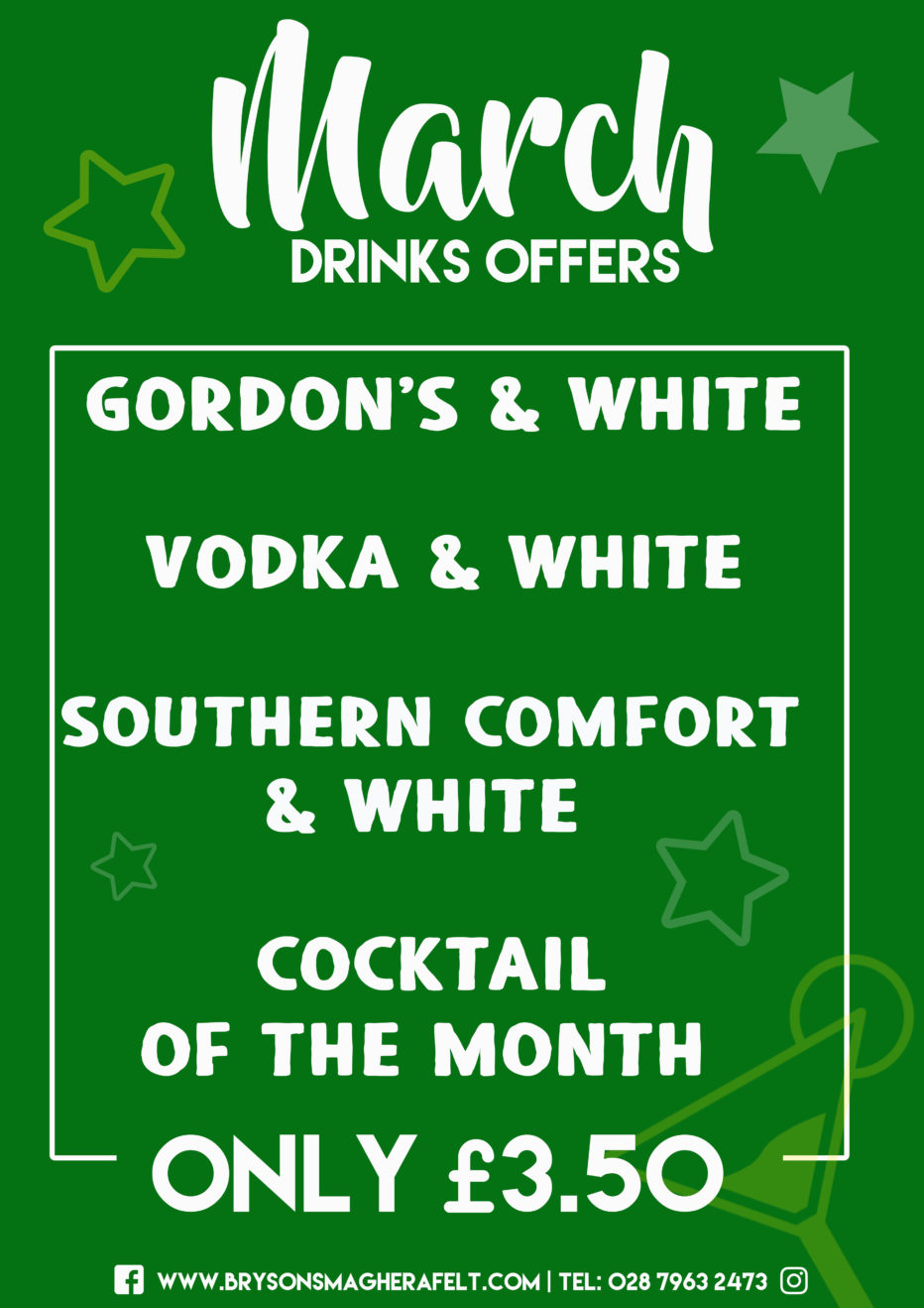 March drinks offers