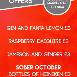 October drinks offers