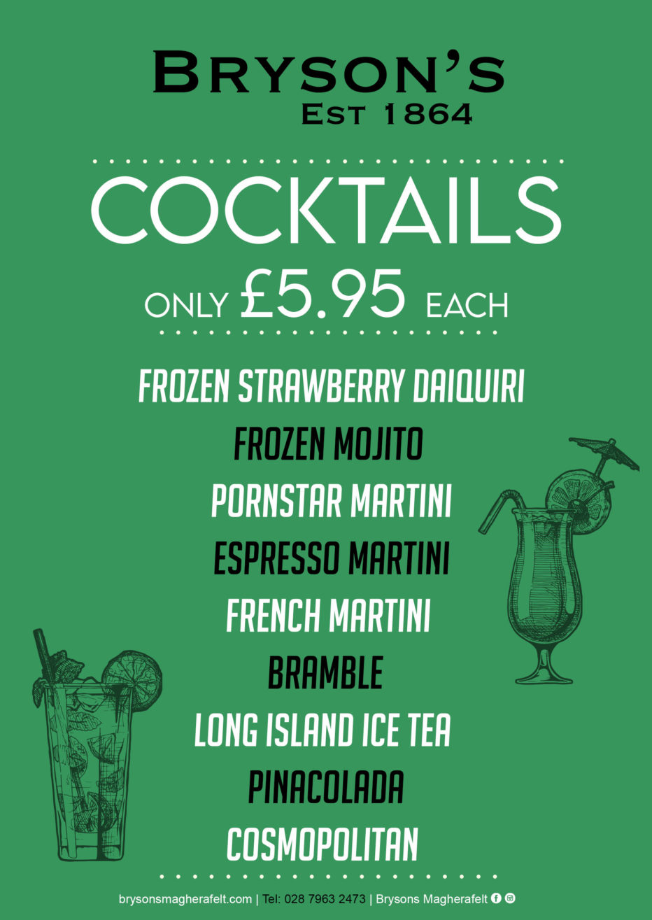 Check out our NEW cocktail menu