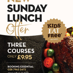 Sunday lunch 3 course offer