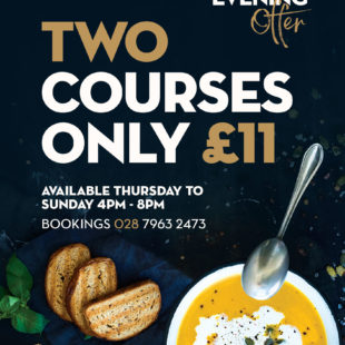 2 courses for £11 – Evening offer